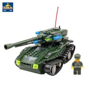 開智紅色警戒系列守護者坦克拼裝積木益智兒童玩具KY81005