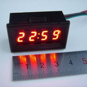 0.30 车载改装LED电子时钟 汽车数显时间表 数字时钟表夜光秒表