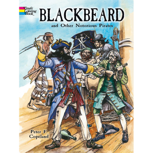 Blackbeard and Other Notorious Pirates Coloring Book七天發貨
