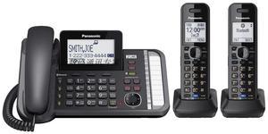 进口Panasonic 松下 KX-TG9582B DECT6.0 蓝牙双线数字无绳电话机