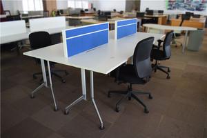 第二树二手办公家具蓝色屏风开放式工位简易电脑桌员工位工作台