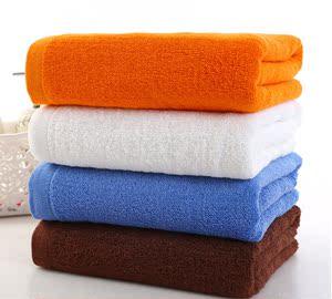 100克纯棉宝蓝咖啡橘黄美容院理发店浴室宾馆火疗用毛巾浴巾