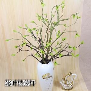 仿真藤条藤蔓树枝子装饰花卉手感绿植嫩叶弯曲做造型小号嫩叶古藤