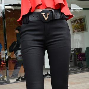 黑色女西装9分裤