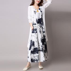 品牌棉麻套装裙女夏两件套
