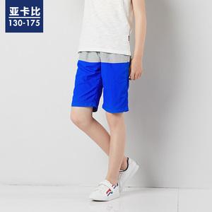 亚卡比男童沙滩裤夏季速干透气宽松休闲五分裤跑步短裤运动短裤潮