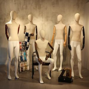 高档服装店模特道具男全身橱窗服装货架人体假人模特架