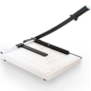 得力8013 手动切纸机 B4钢质切裁剪器 裁纸刀  裁纸机300×380mm