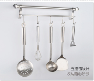 雅之杰 厨房挂件 304不锈钢 壁挂 排钩 带挂钩 置物架AK-01B107