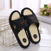A soft bottom drag bath slippers slippers male Korean male ladies summer indoor bathroom antiskid deodorant