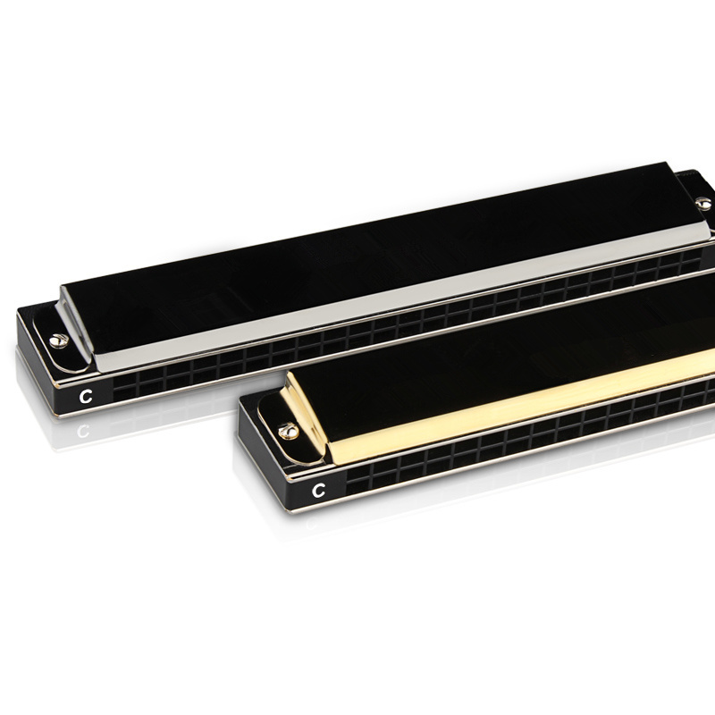 FF professional 24 hole harmonica playing senior adult tremolo stainless steel for beginner students is post