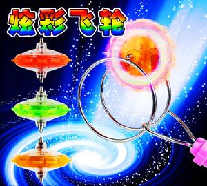 七彩发光手摇飞转陀螺魔力旋转儿童玩具磁悬浮魔幻套装男孩战斗王
