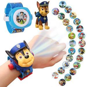 汪汪队社会人手表投影手表小孩子少年投射娃娃粉红电话男孩金刚