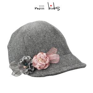 婴儿帽子秋冬季女宝宝潮闪亮洋气百搭时尚儿童帽子女童鸭舌贝雷帽