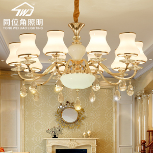 客廳吊燈歐式水晶吊燈簡約現代餐廳臥室大氣奢華簡歐客廳雷士燈具