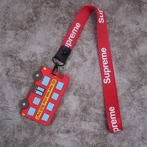 工卡长绳保护套挂脖子儿童加厚挂牌校园双用卡套校牌卡带卡包少女