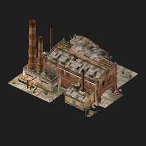 3D游戏二战建筑模型素材资源/修理厂plant