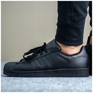 阿迪达斯贝壳头板鞋低帮运动鞋