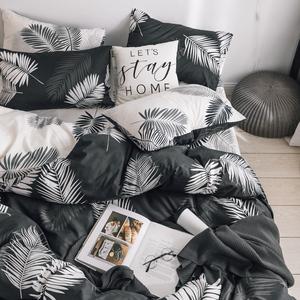 北欧风床上四件套ins风少女床单被套冷淡风双人纯棉单人家纺床品