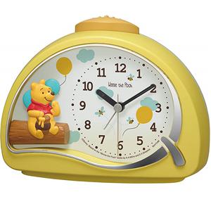 小熊維尼RHYTHM麗聲日本進口兒童動漫創意個性卡通迪士尼靜音鬧鐘