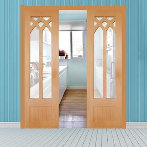 纯?#30340;?#38376;原木室内门定做卫生间门厨房门玻璃门双开对开门定制折叠