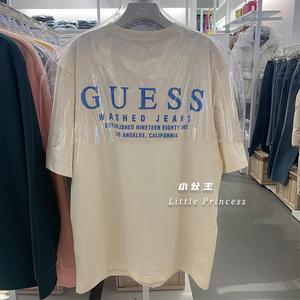 小公主韓國直郵 GUESS新款潮牌短袖T恤女街頭ins男女同款百搭經典