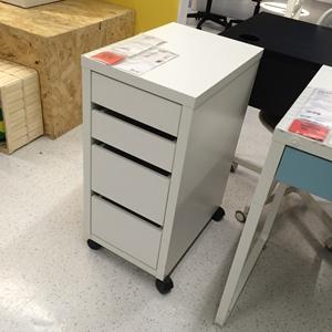 【IKEA/宜家专业国内代购】米克  抽屉柜带脚轮, ?#21672;?书桌储物柜