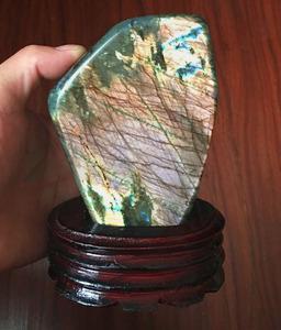 天然月光石摆件 拉长石摆件 月亮石摆件 原石摆件 居家摆饰9a195图片