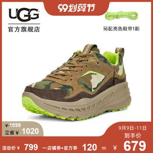 UGG2020春夏新款男士單鞋時尚迷彩色厚底老爹鞋運動鞋 1114550