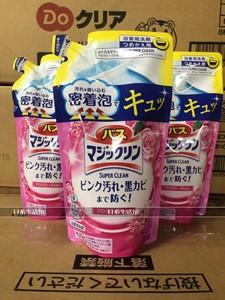 日本花王/kao浴室去水垢 污垢除垢剂 泡沫喷雾 替换装330ml 玫瑰