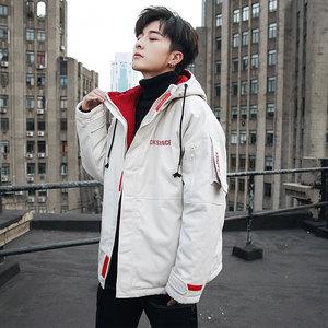 男士冬季外套2019新款加厚棉衣冬裝男生棉襖潮牌短款工裝羽絨棉服