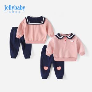 女童秋装3岁婴儿加绒女儿童洋气小孩衣服秋季0-2宝宝卫衣套装秋冬