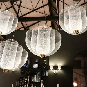后現代輕奢吊燈餐廳創意個性金屬店鋪商用北歐簡約時尚酒吧裝飾燈