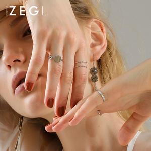 ZEGL关节戒指女网红食指戒子指环日韩国简约个性潮人尾戒套戒组合