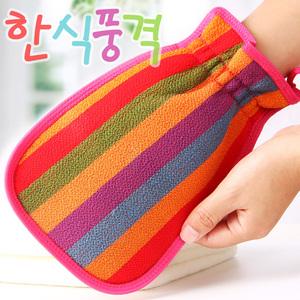 2個韓國搓澡巾強力搓泥洗澡女士不疼雙面磨砂搓背去污神器男包郵