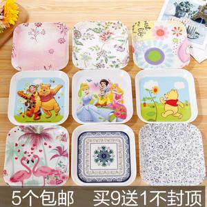 吐骨头盘碟家用骨碟餐桌装垃圾的盘子小吃小碟子塑料干果壳盆渣盘