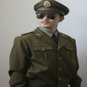 國民軍官服革命軍明國制服八路軍國軍士兵演出服毛呢美式軍裝軍統