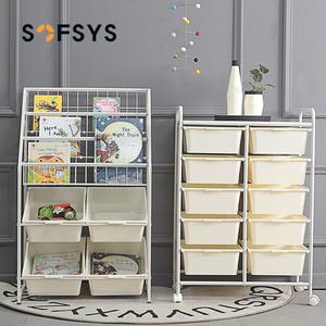 儿童玩具收纳架家用分类绘本宝宝书架幼儿园落地储物柜多层置物架