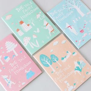 韩国文具可爱创意卡通彩页日程计划本记事练习笔记本胶套手账本