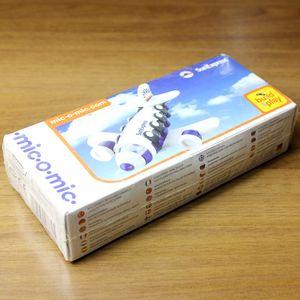 正品德國美扣米扣MIC-O-MIC拼裝玩具 漢莎航空飛機 帶圖紙 帶包裝