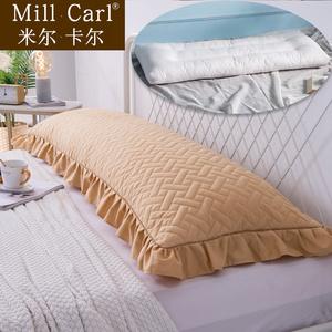 純色全棉夾棉花邊雙人枕套1.5米純棉加厚1.2長枕芯套1.8米長枕套