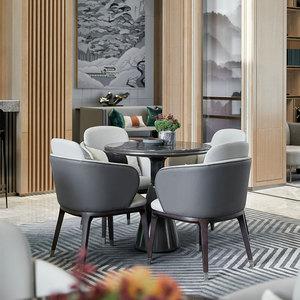 售樓處洽談桌椅組合一桌四椅簡約輕奢北歐接待沙發樣板房定制家具