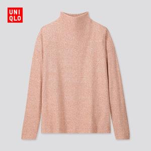 女装 柔软针织摇粒绒高领T恤(长袖) 418239 优衣库UNIQLO