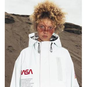 正確版 heron preston x nasa 仙鶴宇航員 飛行外套 3M反光沖鋒衣