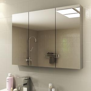 不銹鋼浴室鏡柜掛墻式洗手間鏡箱廁所衛生間鏡子帶置物架梳妝收納