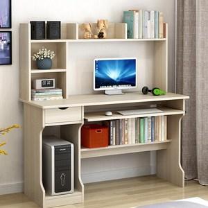 一体经济型化妆转角书桌带书柜圆角桌家用拐4约电脑桌图片