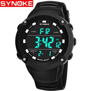 时诺刻 男士防水夜光大中学生多功能电子表计时运动手表闹钟腕表