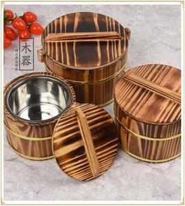 木桶木制蓋澆飯盒小餐具飯桶商用大號餐廳保溫裝飯木桶飯小號帶蓋
