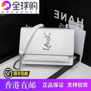 香港代購真皮女包2020新款斜挎小ck包包限定時尚高級感百搭鏈條包