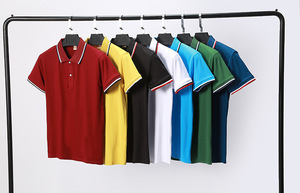 莫代尔男女短袖翻领T恤定做工作服工衣定制班服广告衫印字LOGO